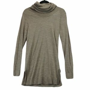 Adrienne Vittadini L long wool cowl neck sweater